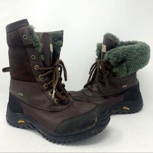 UGG Adirondack Brown Shearling Winter Boots Sz 9